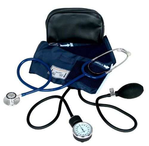 Brand New Adult #Blood Cuff- Aneroid Sphygmomanometer Kit.... Comes With Stethoscope... BC + Stethoscope Come Inside A Pouch...Great For Hospitals, Home, Office,...
