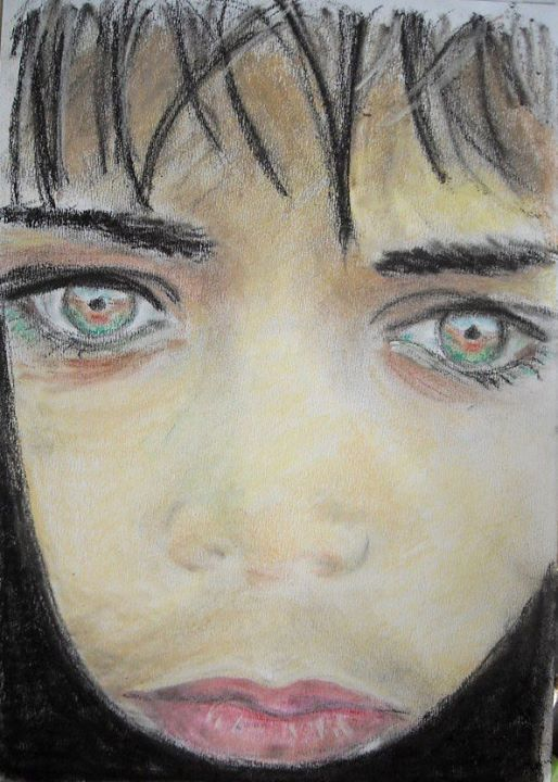 büszkén mutatom be tanítványom jobb agyféltekés színes portré kurzus eredményét