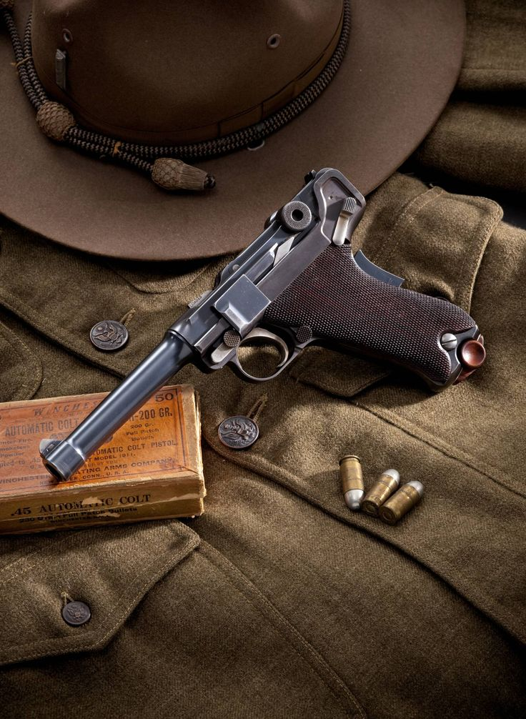 """The Aberman """"Million Dollar"""" .45ACP Luger from the 1911 U.S. Military Trials."""