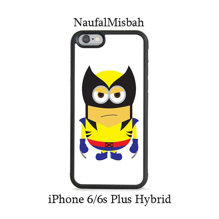 Wolverine Despicable Me Minion iPhone 6/6s PLUS HYBRID Case Cover