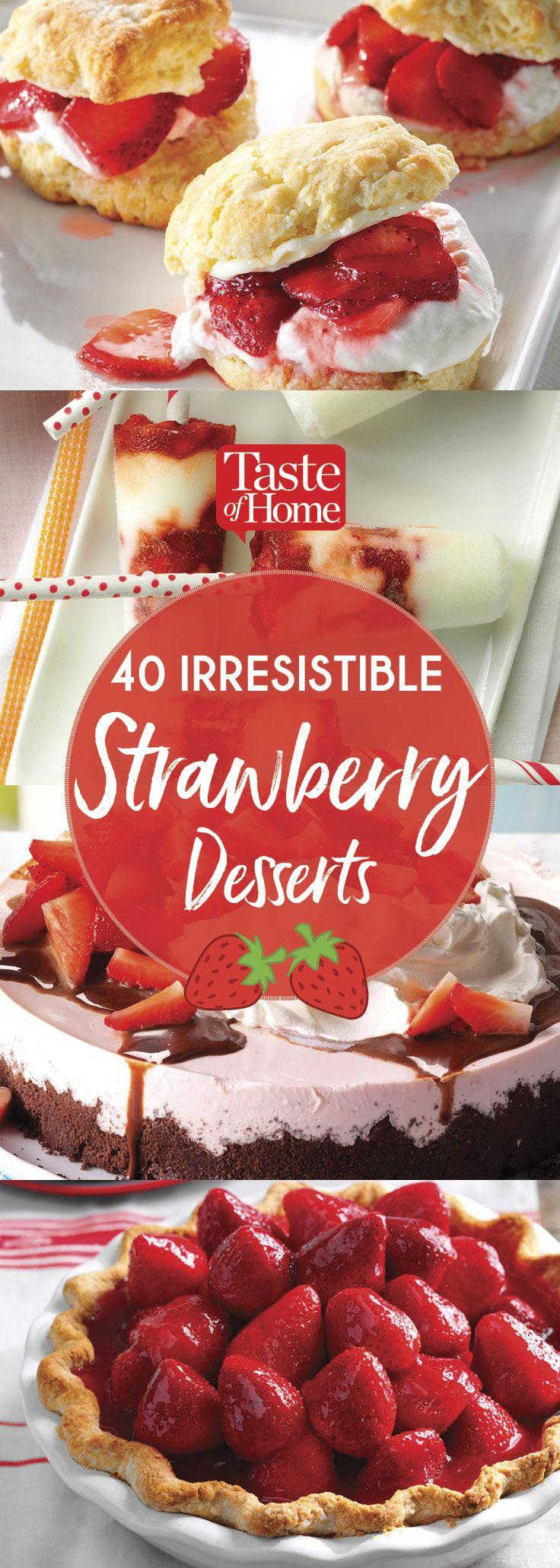 40 Irresistible Strawberry Desserts