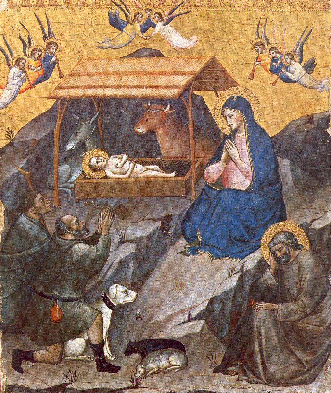 Mariotto di  Nardo (Active 1380-1424) — The Adoration of the Shepherds       (675×800):