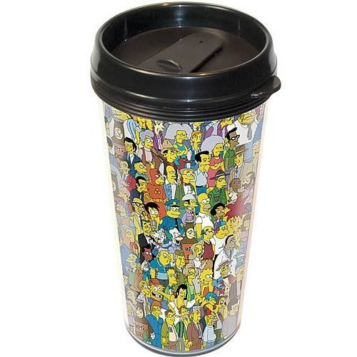 The Simpsons - Merchandise - Plastic Travel Mug (All Of Springfield) @ niftywarehouse.com #NiftyWarehouse #TV #Shows #TheSimpsons #Simpsons