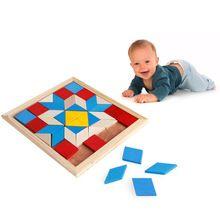 Деревянный tangram логические головоломки игра тетрис детей дошкольного возраста play деревянные игрушки(China (Mainland))