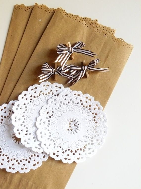 little paper bag with paper doily