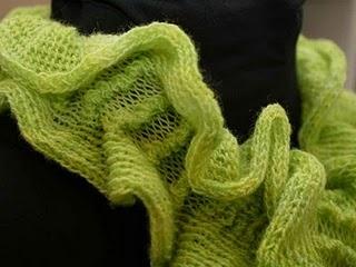 Ruffling with the knitting machine