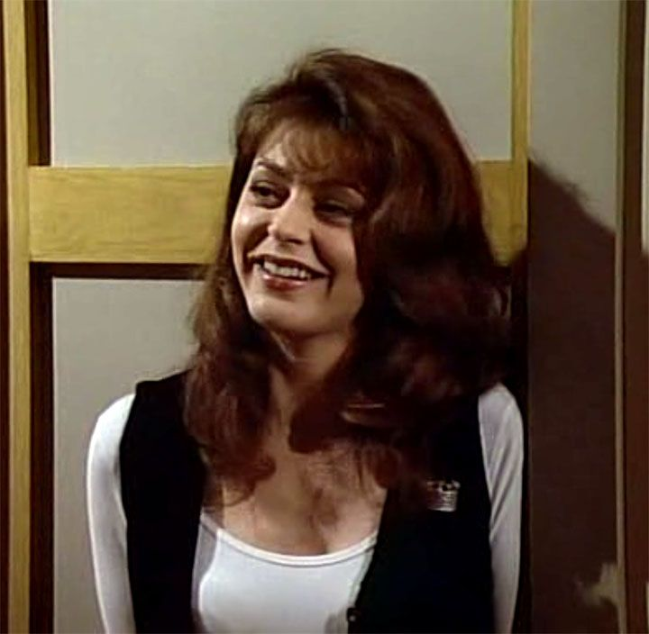"""Played by Jane Leeves, Daphne Moon of """"Frasier"""" (1993-2004) was often shown looking rather frumpy in her role as the title character's live-in housekeeper, but for me, that Manchester accent helped make her the object of my affection. I highly identified with Niles's longing for Daphne."""