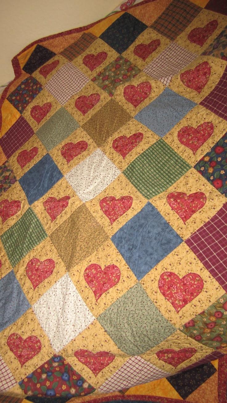 Herzquilt Heart Quilts Pinterest Scrappy Quilts