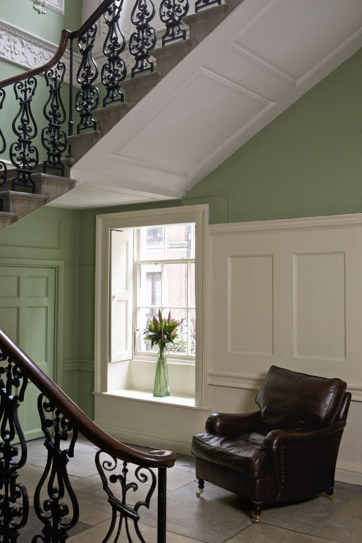 Breakfast Room Green Hall And Stairs Hall Colour Orange