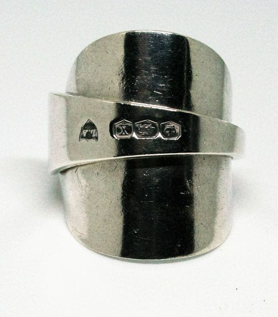 Handmade Sterling Silver Sheffield Spoon Ring by HopkinsEmporium