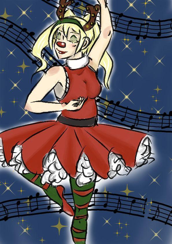 Christmas Selene by ElSoStrange