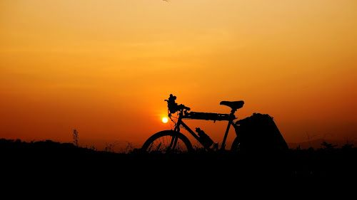 rest by Tonny Haryanto - Landscapes Travel ( touring, nature, silhouette, sunset, travel, rest, bicycle )