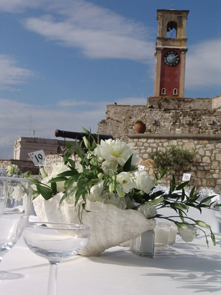 Old city wedding  Keyhole View: Sea elements summering a city Fortress