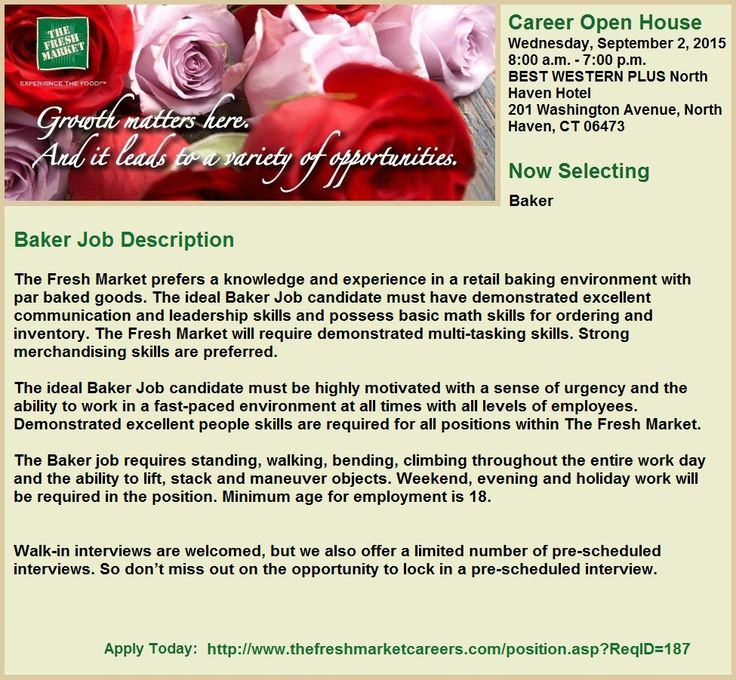 Baker Jobs in Guilford, CT Job, Grocery, Baker job
