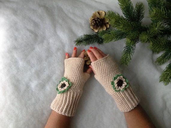 Guanti senza dita a uncinetto  Fingerless gloves di Acasaconmanu