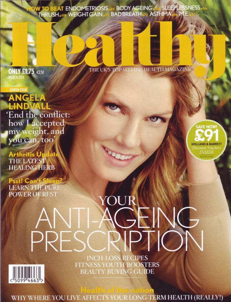 Angela Lindvall - Healthy Mag. 2011