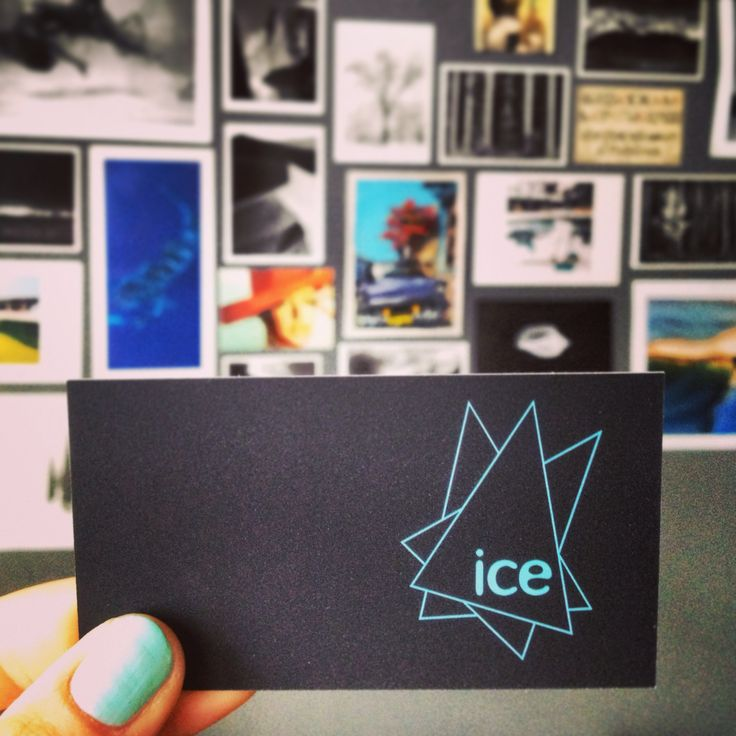 Love it when an ice blue nailpolish color matches out business cards! #icecreative