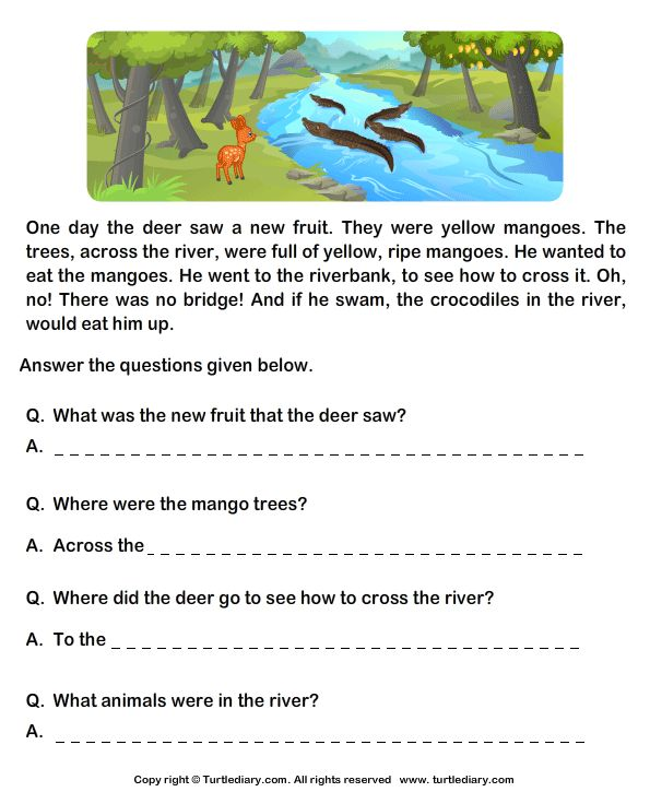 Grade 1 English Prehension Worksheets Google Search