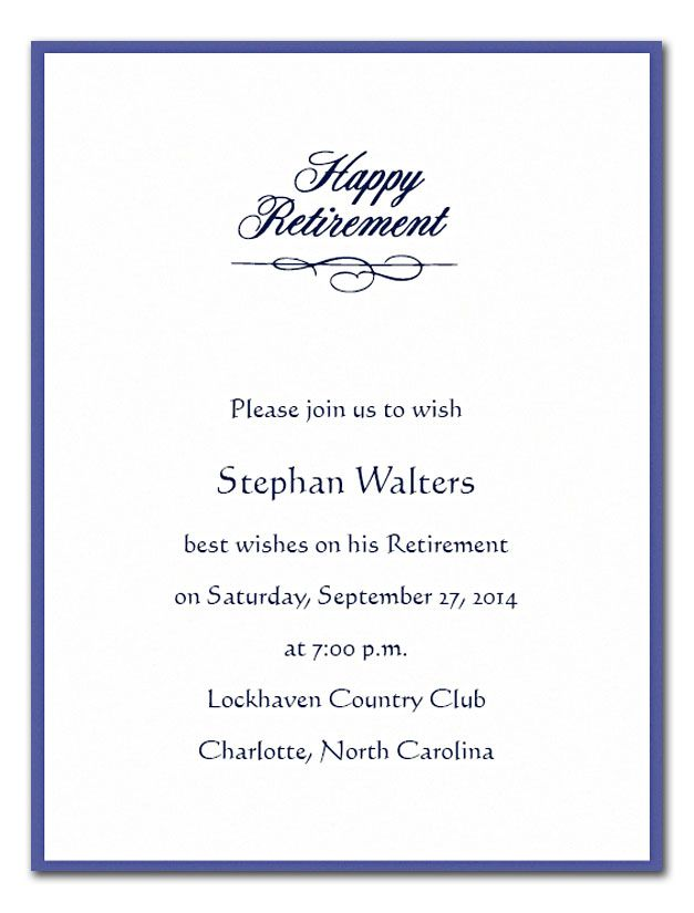 The  Best Retirement Party Invitation Wording Ideas On