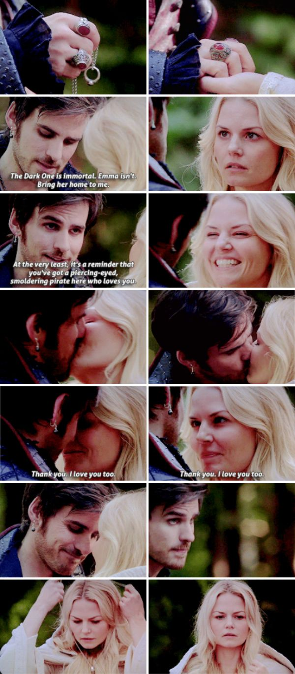 """The Dark One is immortal. Emma isn't. Bring her home to me"" - Killian Jones and Emma Swan #OnceUponATime"