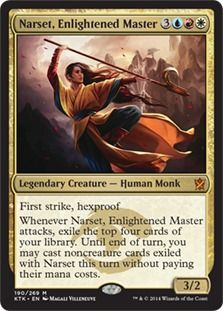 Narset, Enlightened Master deck list with prices for Magic the Gathering (MTG) and Magic the Gathering Online (MTGO).