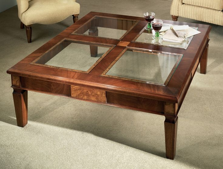 The 23 best images about Tables with glass inserts on Pinterest