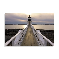 Master bathroom, love coastal:  Marshall Point Lighthouse Wall Art - Bed Bath & Beyond