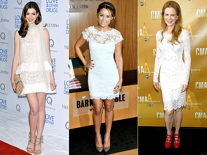 What color shoes to wear with a short white dress