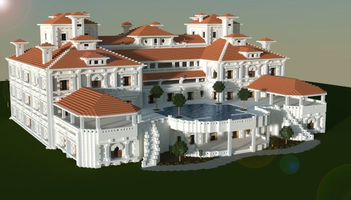 A mansion made in minecraft