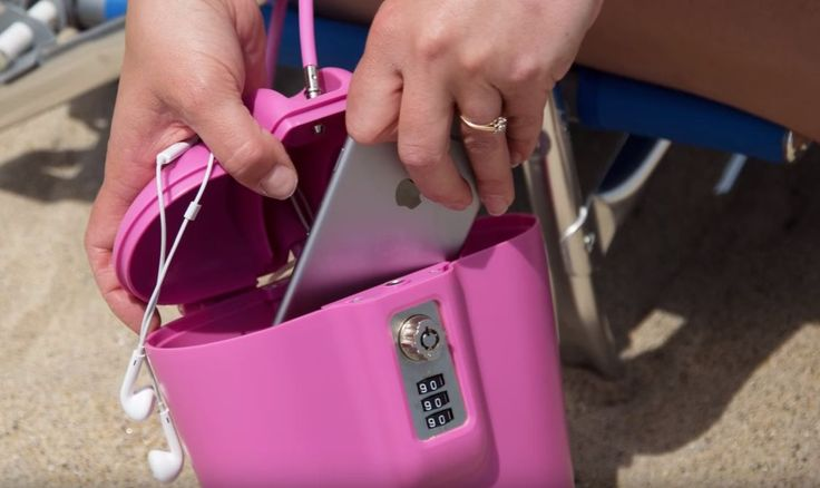 Portable Travel Lock Box Safe with Key: SAFEGO is made from heavy-duty plastic that is lightweight water and sand resistant.