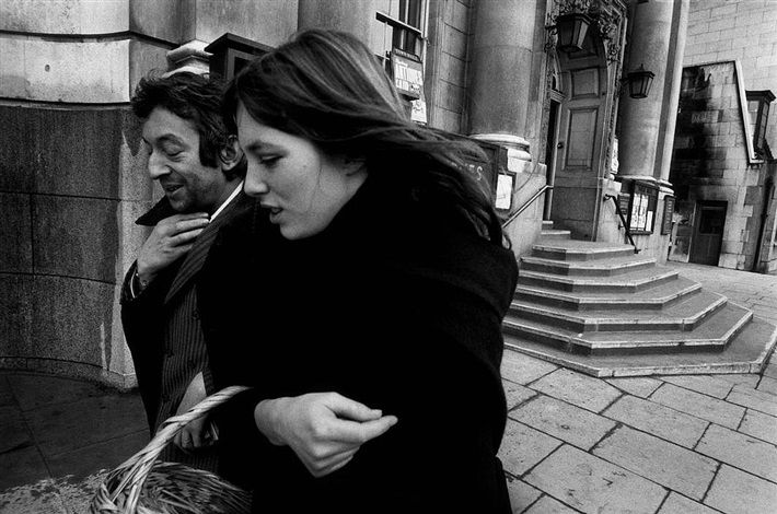 GB. London. Serge Gainsbourg & Jane Birkin. 1970. by Ian Berry