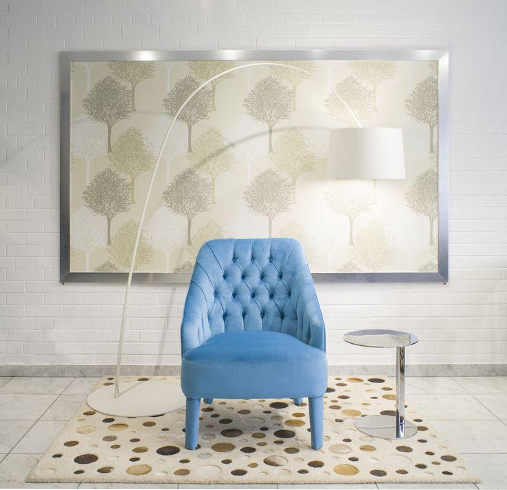 A Sophie Capitonné kézzel készített design fotel színvilága személyes igényekhez alakítható, így biztosan illik majd a helyiség stílusához.
