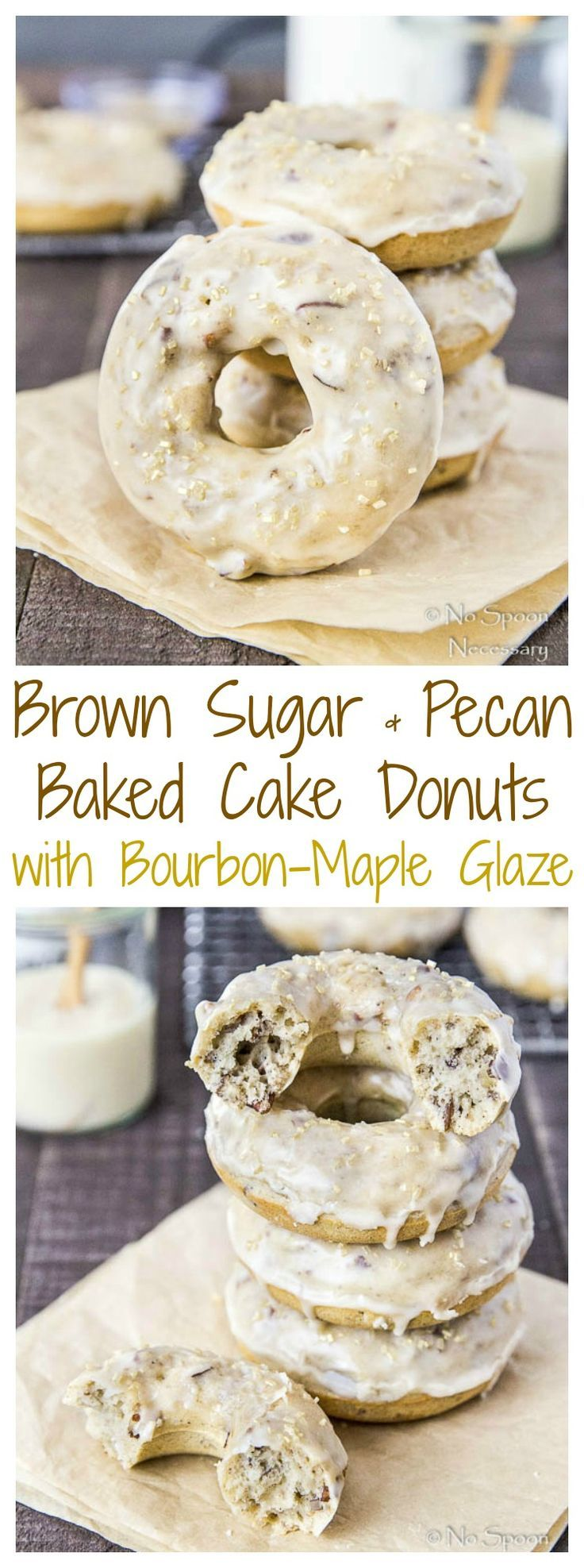 Brown Sugar & Pecan Baked Cake Donuts with Bourbon-Maple Glaze ...