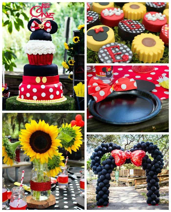 Mickey + Minnie Mouse Sunshine Soiree via Kara's Party Ideas KarasPartyIdeas.com The Place for ALL Things Party! #mickeyandminniemousesunshinesoiree (2)