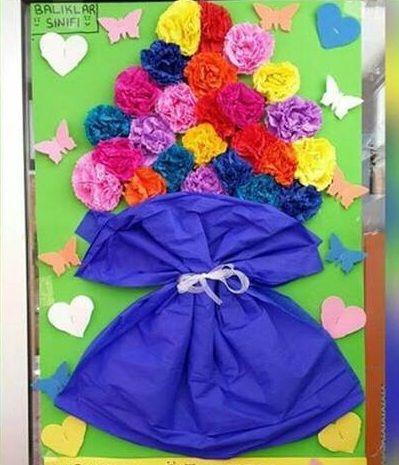 Crepe paper craft idea for preschoolers | funnycrafts