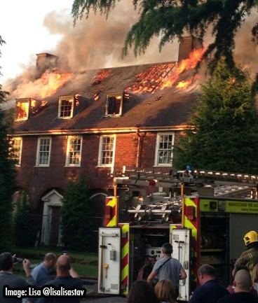 Fire at Father Hudsons Complex, Coleshill
