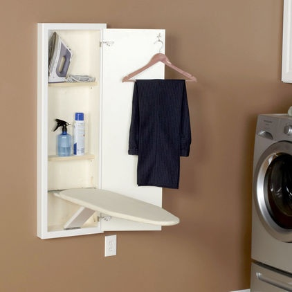 ironing board storage with shelves