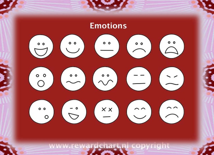 Different emotions pictograms