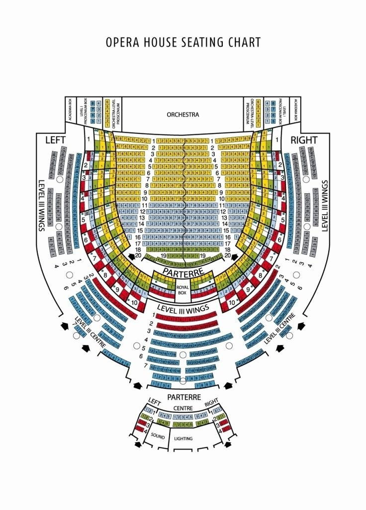 Kennedy Center Opera House Seating Chart Opera House Theater Seating Seating Charts
