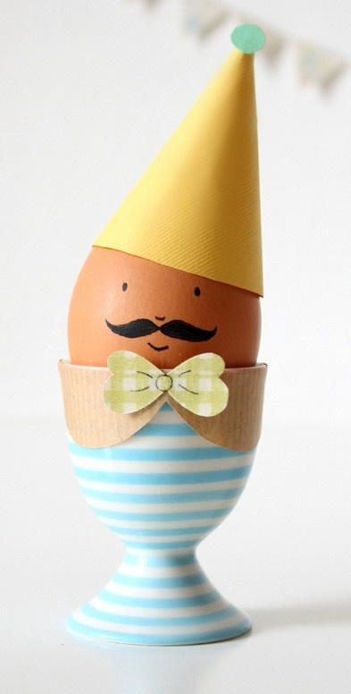 Cute Easter egg decorating idea