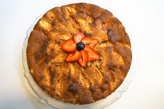 Glutenfri og sukkerfri lavkarbo eplekake