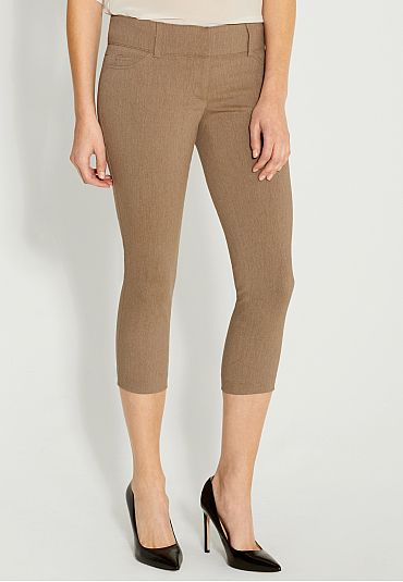 the smart bengaline capri in mocha (original price, $34) available at #Maurices