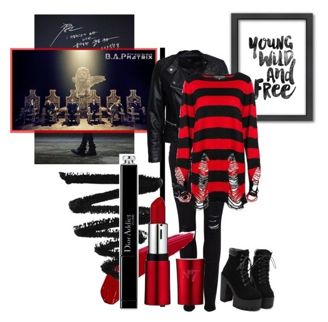 """December 3rd, 2016 - B.A.P"" by thesparklingunicorn ❤ liked on Polyvore featuring Frame Denim, Americanflat, Sisters Point, TheBalm, Christian Dior, women's clothing, women's fashion, women, female and woman"