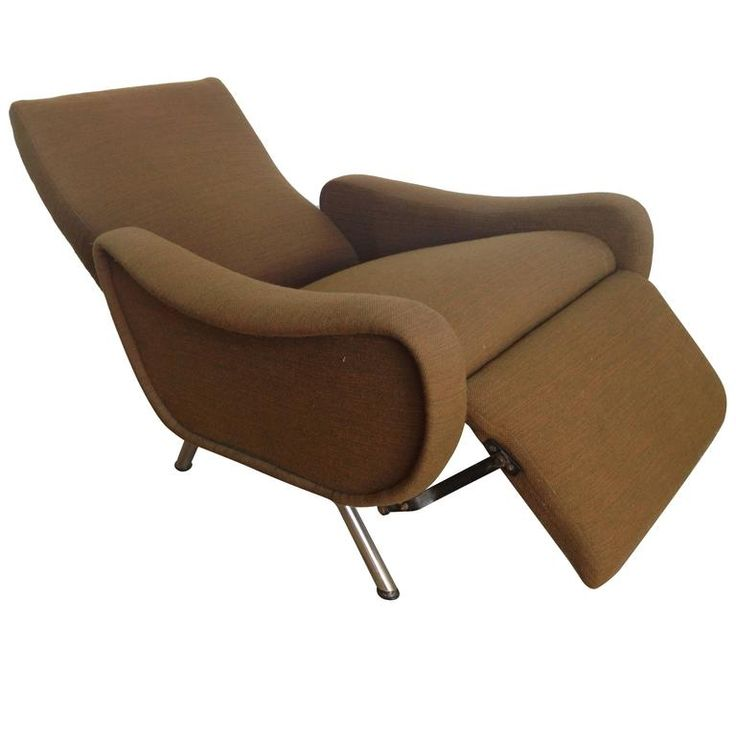Marco Zanuso Reclinig Armchair For Sale at 1stdibs