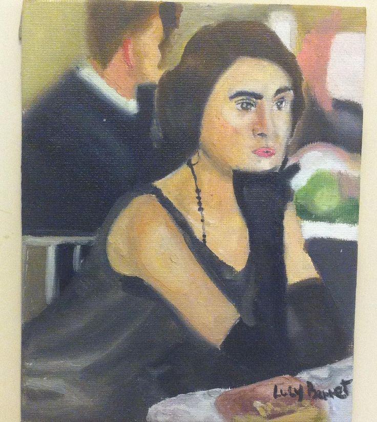 sin titulo  por:Lucy Bennet  oleo sobre tela #Arte #oleo #color