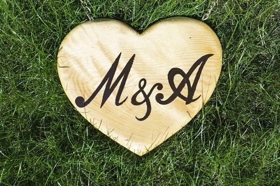 Rustic Wedding Sign | Wedding Heart Sign | Wedding Wooden Heart | Custom Heart | Wedding Signs | 100% Handmade Heart