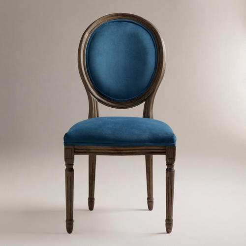 World market- 359.98 for set of 2- not available online :(   - Graceful and elegant, our Peacock Ella Side Chairs are defined by their shapely silhouettes. Crafted of weathered gray-finished wood, each chair is upholstered in a velvety microfiber fabric in bright peacock.