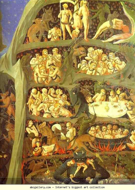 Fra Angelico. The Last Judgement. Detail: The Damned.  Giovanni da Fiesole, al secolo Guido di Pietro (Vicchio, 1395 circa – Roma, 18 febbraio 1455),