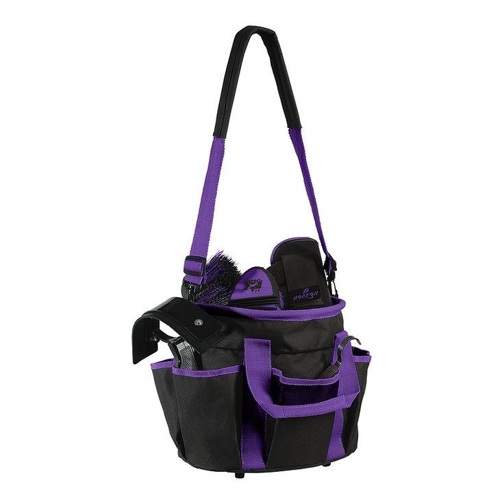 Sac équipé de 6 poches extérieures qui vous permettront d'y ranger non seulement votre matériel de pansage (brosses, bouchons et autres accessoires), mais aussi vos produits de soins et vos bandages.