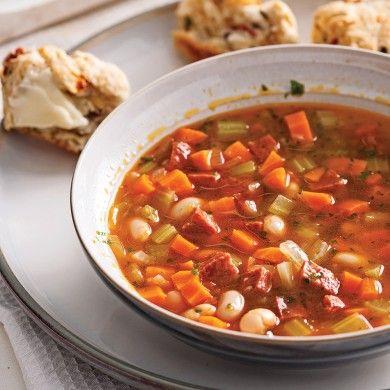 Soupe aux légumes à la portugaise - Recettes 5-15 - Recettes express 5/15 - Pratico Pratique